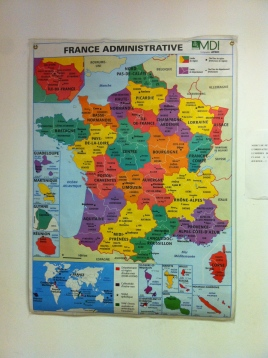 The map upon which my French teacher flails. I think she's trying to tell me something.