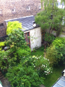 A view of my courtyard from the bedroom window.
