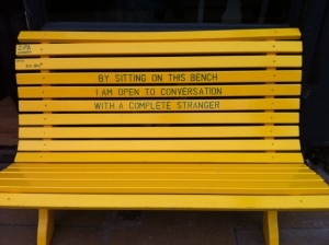 Sadly, I never actually saw anyone sitting here.