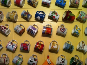 It's always fun in the morning to choose a mug from this wall; which one would you choose?