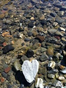 My river rock heart.