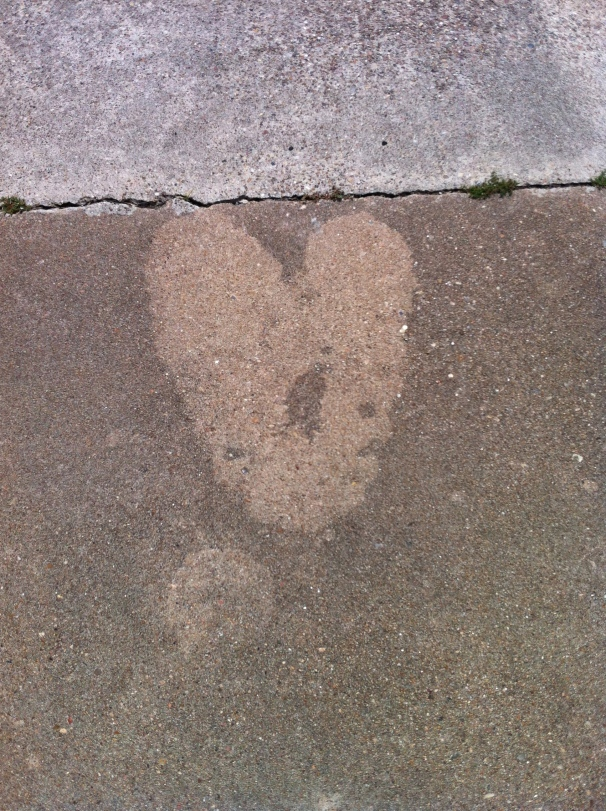 Flip-flop heart.