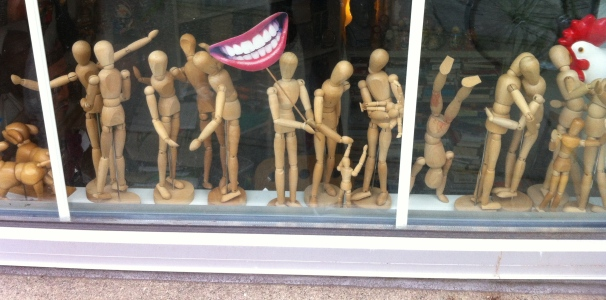 Surely Seattle is a great town, if these are the kinds of shenanigans embraced by its little wooden people.