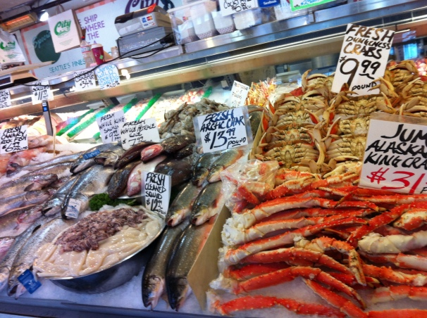 Apparently my tenderhearted self is a bit hypocritical; though I don't eat meat, I make an exception for tasty seafood.