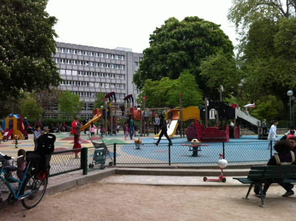 Perhaps my children would have played at this very playground, hidden among the streets of Paris.