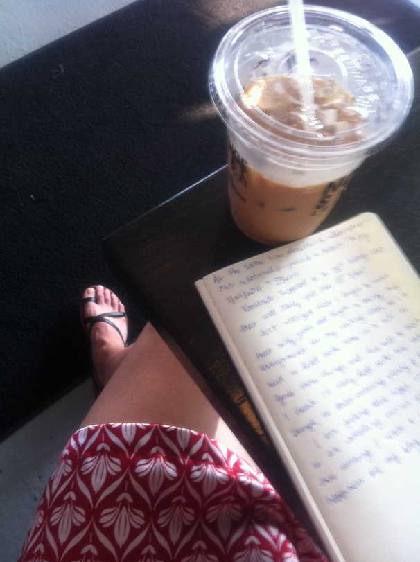 I write in sandals, in dresses, forgetting myself.