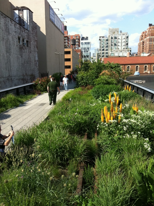 I was not on the high line that day, but what a lovely spot to find a bit of space.